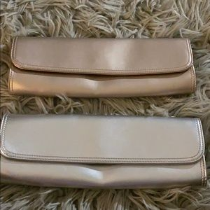 Clutches from the GAP (silver and gold)